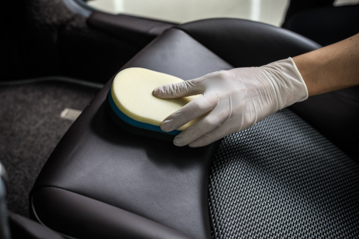 Car seat polishing