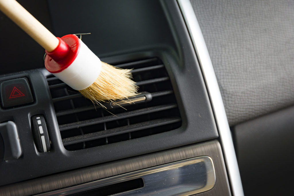 Car interior cleaning detailing